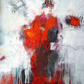 """ Rouge 1""/2018 - 100cm x 100cm - Mixed media - 850€"