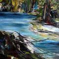 Gewässer 5 - 60 cm x 60 cm - Acryl auf Leinwand - 2019