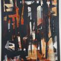 Schwarze Figur ? - 40 x 50 - Acryl auf Leinwand