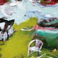 Sommergarten 1 - 68 cm x 47 cm - Acryl auf Bütten - 2016 - 380,- €