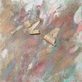 Mai - Pigmente mit Birkenrinde - Leinwand 20x20