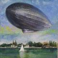 Luftschiff - Acryl und Streichputz auf Leinwand - verkauft
