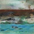 Flux 1 - 50 x 50 cm - Beize, Marmormehl, Acryl