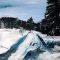 Schneealb 1 - 50 cm x 60 cm - Acryl auf Leinwand - 2016 - 480,- €