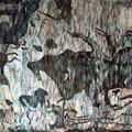 """""""Lascaux"""", handgewebte Tapiserie aus Seide, 90x120 cm, Eur 700"""