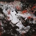 Sonnenaufgang - Acryl, Teer auf Leinwand - 40 x 40cm