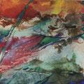 Flux 2 - 50 x 50 cm - Beize, Marmormehl, Acryl