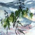 Landschaft 130818 - Mischtechnik auf Papier - 45 cm x 23 cm - 2016 - 190,- €