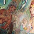 Ein großes Bild aus Sigiriya (Höhlenmalereien aus Sri Lanka). Ich male große Bilder auf Anfrage. Dieses ist als Beispiel 110x200 cm. Würde Eur 500 kosten und jedes Thema ist möglich .