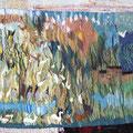 """villa scene"", handgewebte Tapiserie aus Sri Lanka, 110x50 cm, Eur 350"