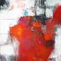 """Rouge 2""/2018 - 100cm x 80cm -  Mixed media -  800€"