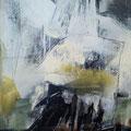 """black and white"" - 100cm x 80cm - mixed media - 900€"