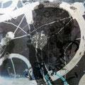 Abstrakt 8 - Mischtechnik auf Alu - 20 cm x 20 cm - 2014 - 180,- € mit Rahmen