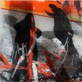 Schatten 1310183 - Mischtechnik auf Acryl - 20 cm x 20 cm - 2013 - 180,- € mit Rahmen