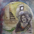 unberührt - 100 x 100 cm - Acryl und Streichputz auf Leinwand - verkauft