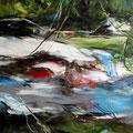 Gewässer 2 - 60 cm x 60 cm - Acryl auf Leinwand - 2019