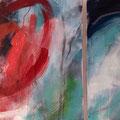 """Dyptichon """"Im Strudel der Zeit"""" - Acryl , Kreide auf Leinwand - 150x70 - 650.-€"""