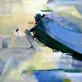 "Titel: ""Flug zum Mars I"" - 50 x 50 cm - 200,00 €"