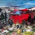 Landschaft, gestört - 70 cm x 100 cm - Acryl auf Leinwand - 2016 - 1.100,- €