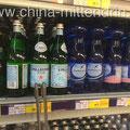 Importierte Mineralwässer in einem chinesischen Walmart-Supermarkt in Fuzhou in Südostchina.