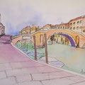 Tre Archi/ Venedig- Kolorierte Skizze
