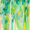 Treesシリーズ 2019年 紙にアクリル 29.7×21.0cm