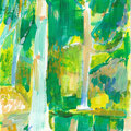 Treesシリーズ 2019年 紙にアクリル 28.4×21.0cm