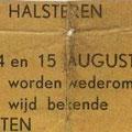 1961 Eerste serieuze optreden in Halsteren tijdens de Wijnfeesten in augustus. Samen met Jack Dens & The Swallows (de eerste Roosendaalse Indo-Rock band van Jack de Nijs alias Jack Jersey)