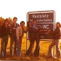 JOHN WISSE & THE CIVILIANS - In Duitsland ca. 1977 vlnr: Ad van Osch - Hans v.d. Kerkhof - Benny Storm van 's Gravenzande - Hans Zange - Ton Leijten - John Wisse