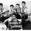 THE QUICKLY JUMPERS 1963 - vlnr: Albert Petitjean, Rob Gillet, Willy Butters, Jozef Kotta // Daan Takarindingan (voorgrond) (collectie Albert Petitjean)