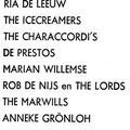 Programma van de teenager show met Rob de Nijs en Anneke Grönloh op 29-12-1963