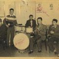 The Dixie (Dixy) Stampers (zonder Jack de Nijs) met Henk Voorheijen achter de drums.