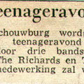 Teenageravond  in de schouwburg de Kring in september 1963 met The Swallows, The Richards en The Quickly Jumpers