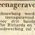 Teenageravond  in de schouwburg de Kring in september 1963 met The Swallows, The Richards en The Quickly Jumpers