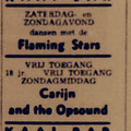 Advertentie Kaai-Bar, Roosendaal 26/27 november 1966