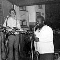 THE OP-SOUND  in jazzcafé Porgy & Bess, Terneuzen (23-07-1967). Aankondiging door eigenaar Frank Koulen (RIP 1985).