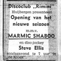 "Zondag 20 aug. 1972,  Huijbergen  Disco-club ""Rimini"""