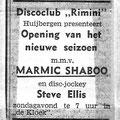 """Zondag 20 aug. 1972,  Huijbergen  Disco-club """"Rimini"""""""