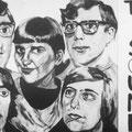 THE OP-SOUND Promokaart (schilderij van Felix v.d. Straeten - foto Walravens - jan.1967)