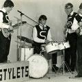 THE STYLETS januari 1966 vlnr: Emile Lemmens - Jos Rijnkels - Eddy Arons - Coen van Doorn (Foto Rembrandt, Roosendaal)