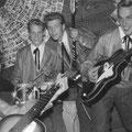 The Blue Rockin' Stars 1961 Optreden met de eerste officiële blauw glimmende pakken