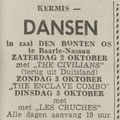 THE CIVILIANS: Dagblad de Stem 1-10-1965