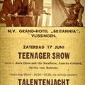 Teenager-Show op 17 juni 1961 in Grand-Hotel Britannia, Vlissingen