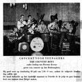 Uit het Brabant Plein buurtkrantje van de winkeliers. Aankondiging van optreden van The Country Boys op donderdag 20 juli 1961 (collectie: Cees Luyten)