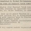 Fanclub Jack Dens van Mieke Jonkers - Het Azaleablad Schoolblad st. Michel Ulo (december 1961)
