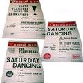 Posters van optredens in De Nieuwe Haven (Belcrum) Boven 29-12-62, midden 07-12-63 en onder 26-10-63