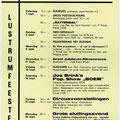Programma Lustrumfeesten St. Josephhuis (september 1968)