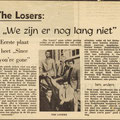 THE LOSERS: Brabants Nieuwsblad 1966
