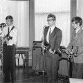THE OP-SOUND optreden in Tilburg 1968  vlnr: René de Kok - Fred Baarda - Piet van Trijp - Bas de Ridder