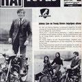 Advertentie Peugeor uit de Rai Revue februari 1966